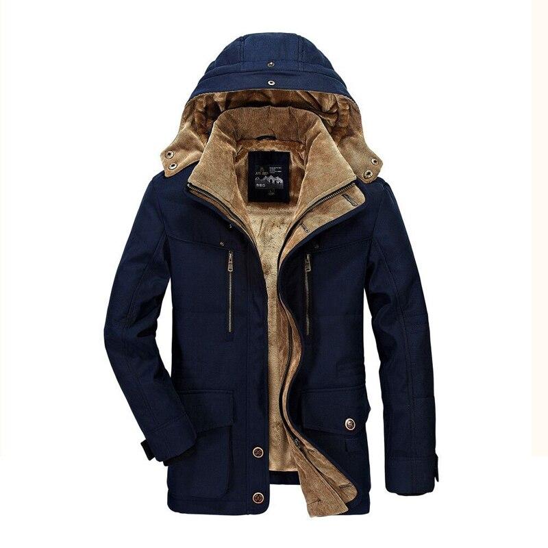 Grande taille L-6XL marque hiver parka hommes de haute qualité AFS JEEP épais chaud veste militaire hommes manteau de neige à capuche parka manteau