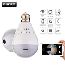 Fuers 360 градусов Wi-Fi 960 P FishEye панорамный Камера E27 лампочка домашнего безопасности видеонаблюдения Беспроводной Onvif IP Камера