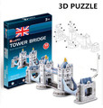 3d puzzle cubicfun arquitetura modelo de papelão brinquedo tower bridge mundialmente famoso edifício montagem diy brinquedos para crianças