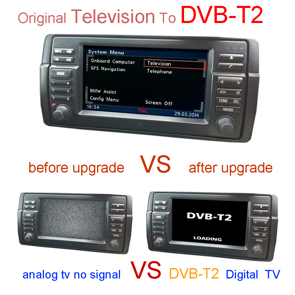 dvb t2 digital tv for bmw e38 e39 e46 x5 e53 in tv. Black Bedroom Furniture Sets. Home Design Ideas