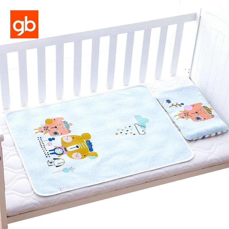 GB Pasgeboren Baby Doek Luier Cartoon Waterdichte Zachte Ademende Baby Luiers Wasbare Absorberen Nat Kind Veranderende Pad 80x60 cm