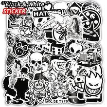100 шт/50 шт черно-белая наклейка крутой Doodle DIY стикер s багаж скейтборд искусственная кожа для автостайлинга Deacals мотоцикл ноутбук