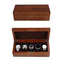 2019 новый 5 сетки деревянный набор инструментов часовщика корпус для часов оболочка для часов шкатулка для часов Часы