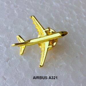 Image 2 - Odznaka Airbus A 321, Metal, srebro, broszka w kształcie samolotu, specjalna upominek z pamiątkami dla załogi Filght Pilot Avaiton Lover