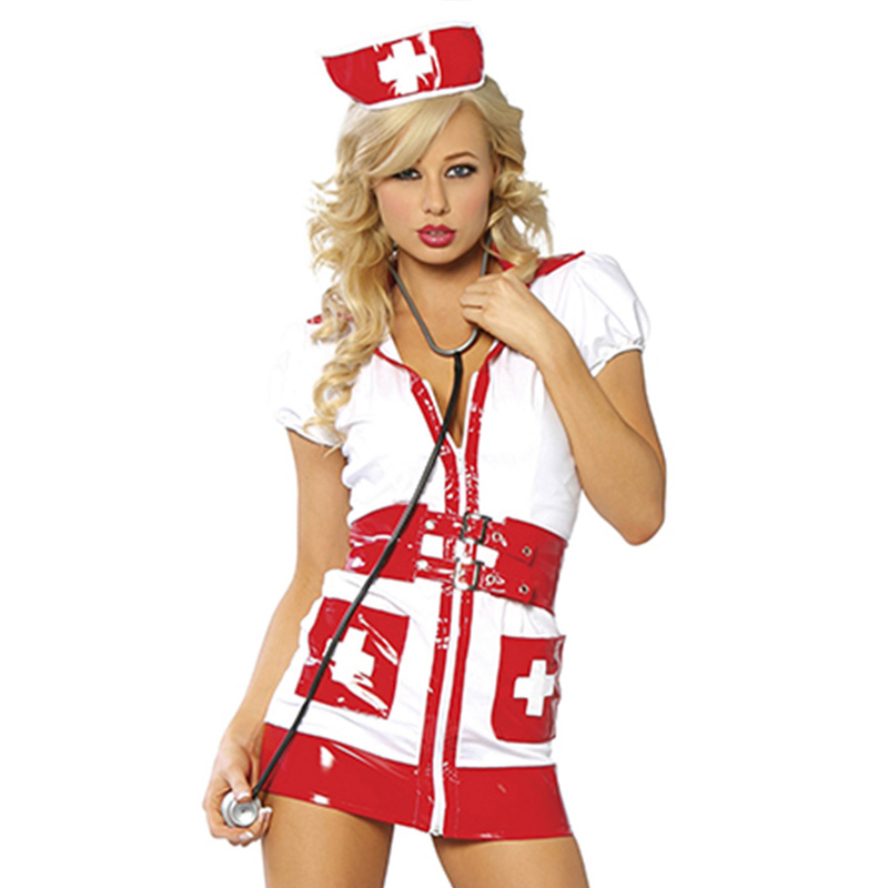 Roleplay Fancy Hot Bedroom Nurse Costume 2017 Sexy Lingerie Erotic Costumes Cospaly Fashion Nurse Outfit Dress With Hat