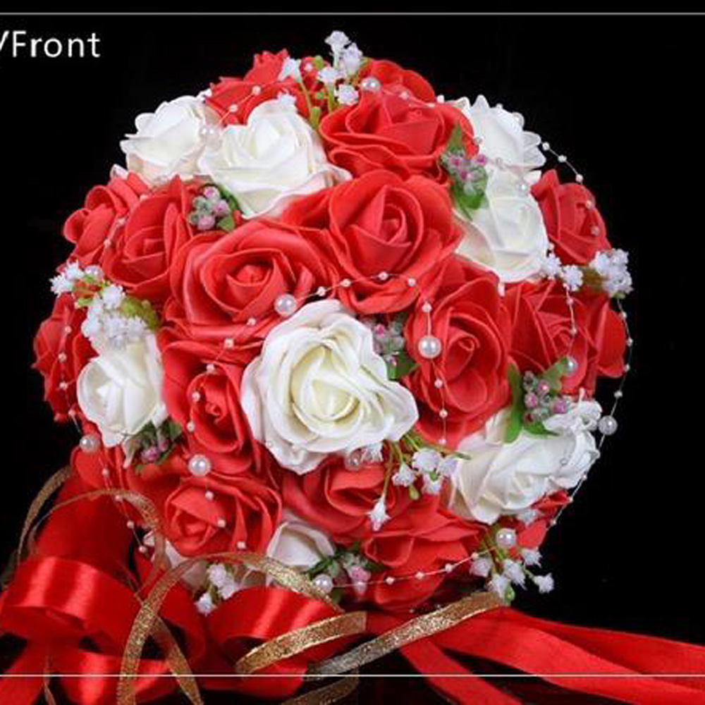 wedding bouquets for cheap 2016 cheap wedding bouquet pink white burgundy bridal 8511