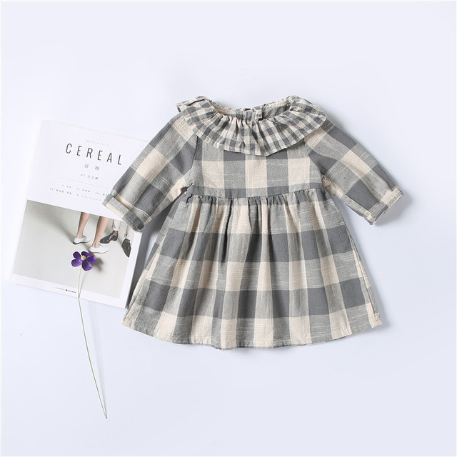 kids baby girls dress casual plaid christmas dress new spring autumn infant girls clothes vestidos children - Girls Plaid Christmas Dress