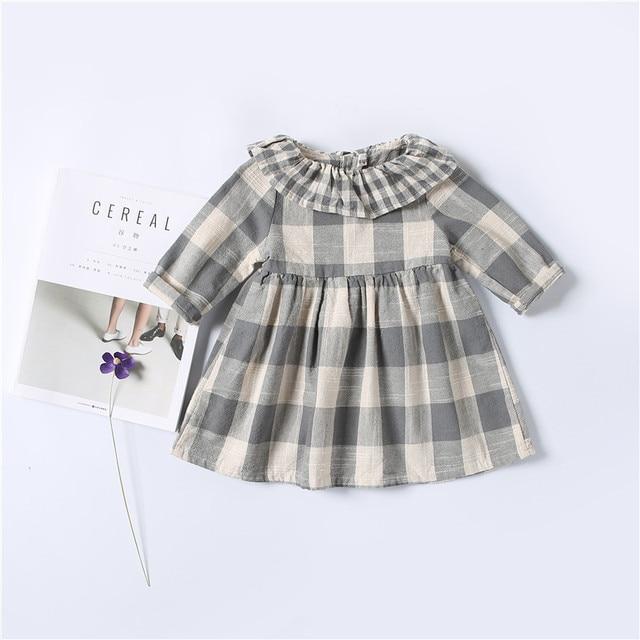 kids baby girls dress casual plaid christmas dress new spring autumn infant girls clothes vestidos children - Plaid Christmas Dress