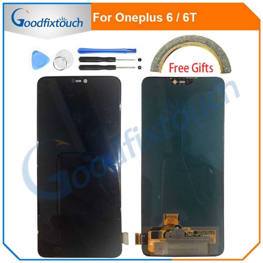 AMOLED For <font><b>Oneplus</b></font> 6 6T LCD Display <font><b>Screen</b></font> Touch Digitizer Assembly With Frame Touch <font><b>Screen</b></font> For One Plus <font><b>A6000</b></font> A6010 A6013 image