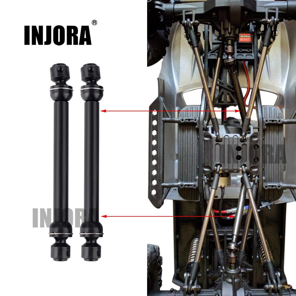 2 piezas 112-152mm de acero inoxidable Universal coche CVD eje para RC Crawler coche SCX10 D90 coches RC accesorios