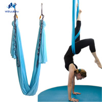 New 4meter Set Flying Yoga Hammock Swing Trapeze AntiGravity Inversion Aerial Traction Device Yoga For Beginner