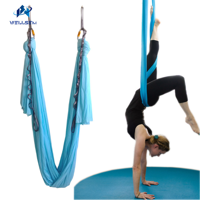 new 4meter set flying yoga hammock swing trapeze antigravity inversion aerial traction device yoga for beginner new 4meter set flying yoga hammock swing trapeze antigravity      rh   aliexpress