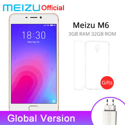 Official Meizu M6 3GB RAM 32GB ROM Global Version Mobile Phone MTK6750 Octa Core 5.2 inch 13.0MP Rear Camera Fingerprint ID