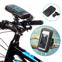 Universal 5.7″ Bicycle Waterproof Phone Case Bag Mount Bike Motorcycle Handle Bar Mobile Phone Stand Holder For iPhone 7 6 Plus