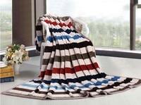 Alta Qualidade Venda Quente 200x230 cm Listrado Throw Blanket Super Macio Cobertores de Lã na Cama de Inverno Xadrez colchas
