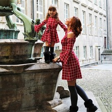 plaid mother daughter dress mommy and me clothes family matching outfits look off shoulder clothing mom daughter dresses clothes