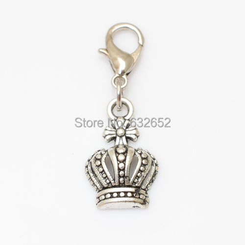 wholesale floating dangle charms crown for living glass