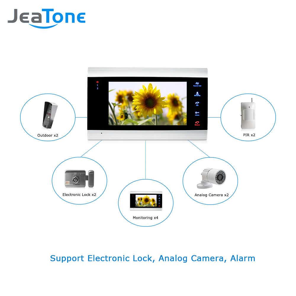 7 بوصة تعمل باللمس زر الفيديو نظام الاتصال الداخلي بجرس الباب مقاوم للماء باب الهاتف الداخلي 1 مراقب 1 باب الهاتف 16 جرام SD بطاقة شحن مجاني