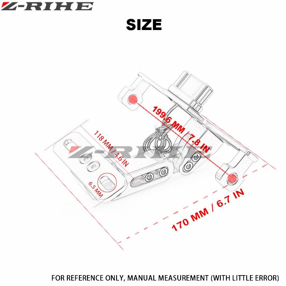 Universal CNC Motorrad Einstellbare License Nummernschild Rahmen ...