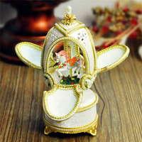 Birthday gift royal egg carving cutout music box wedding souvenir musica box married girlfriend gifts