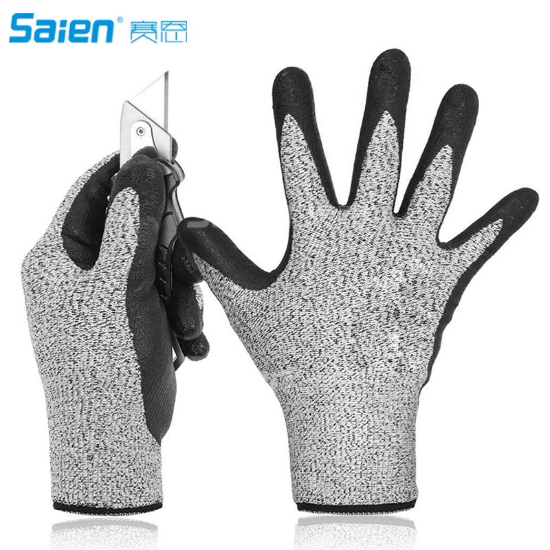 US $16.98 |Hilinker Cut Resistant Gloves Highest Performance Knife Scissors  Hands & Body EN388 Level 5 Protection Kitchen Work Safety-in Fishing ...