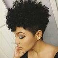 Последним kinky фигурных синтетический парик Черные волосы Дешевые Афро кудрявый курчавый парик для чернокожих женщин Нахальный Афроамериканец короткие вьющиеся парики