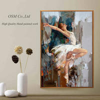 Skills Artist Pure Hand painted High Quality Impression Ballet Dancer Oil Painting on Canvas Realistic Dancer Canvas Painting