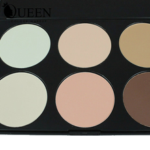 QUEEN Brand Bronzer and Highlighter 6 Colors Face Contour Palette Necessary for Cosmatic Makeup Face Contour AC06II