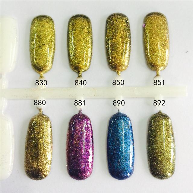 50g COLOR DEL DIAMANTE SERIE Pigmentos Copos de Brillo de Uñas Efecto Mágico Estilo Flash Polvo para Nail Art Decoración de Uñas de Gel polaco