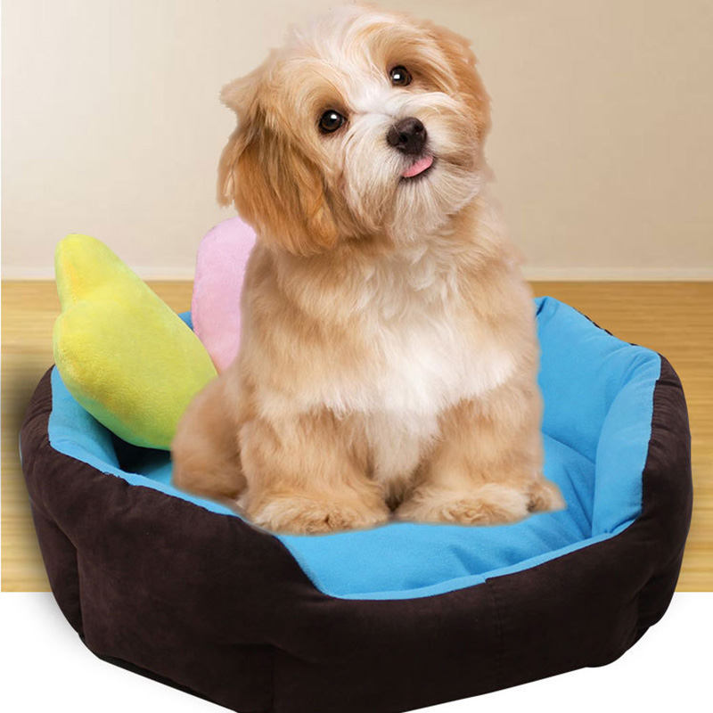 Cute Soft Pet Basket Dogs Beds Puppy Chihuahua Cat bed ...