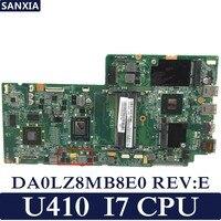 KEFU DA0LZ8MB8E0 REV: E материнская плата для ноутбука Lenovo IdeaPad U410 Тесты оригинальная материнская плата I7 Процессор