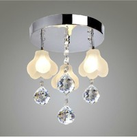 Italy style flower fashion simple crystal living room lamp ceiling lamp hall crystal lamp