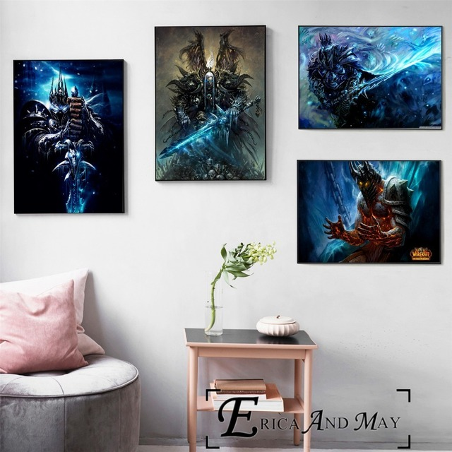 Lich King WOW Game Artwork Vintage Posters and Prints Wall art Decorative Picture Canvas Painting For Living Room Home Decor
