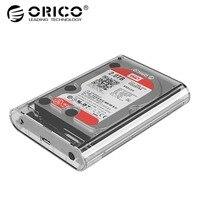 ORICO 3139 Transparent PC 3.5 Inch USB3.0 to Sata 5Gbps External Hard Drive HDD Enclosure 8TB Tool Free Support Windows XP MAC