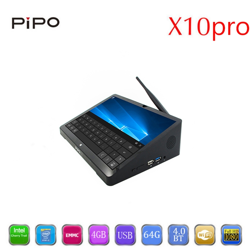 10.8 Inch 1920*1280 PIPO X10 Pro Mini PC IPS Tablet PC Windows 10 Android 5.1 TV Box Z8350 Quad Core 4G 64G Bluetooth Media Box new 10 8 inch 1920 1280 pipo x10 mini pc windows 10 tv box z8300 quad core 4g ram 64g rom hdmi media box bluetooth win10