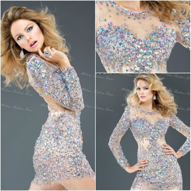 Kleid transparent strass