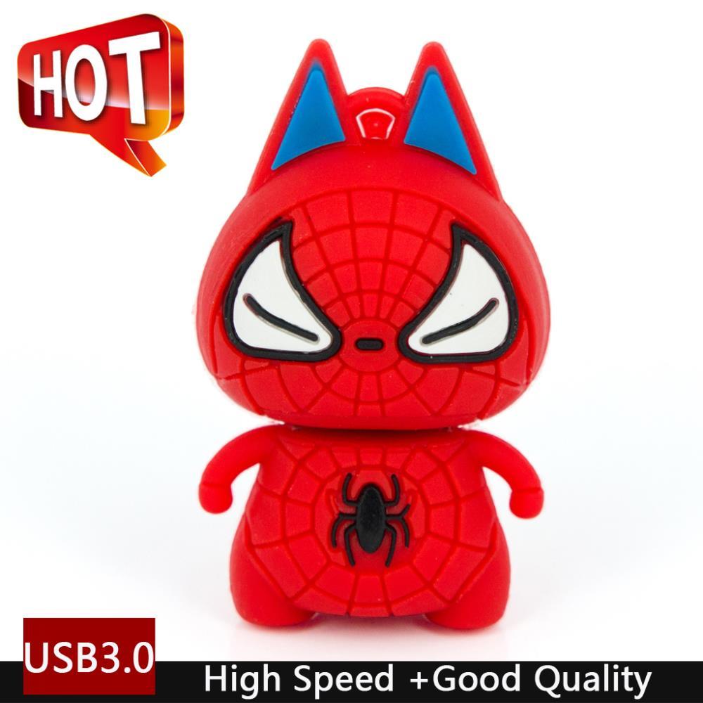 Pen Drive 2TB Cartoon Super Heros <font><b>Spiderman</b></font> Usb Flash Drive 3.0 Memory Stick Pendrive 1TB 64GB 128GB 32GB Usb Stick Key Gift