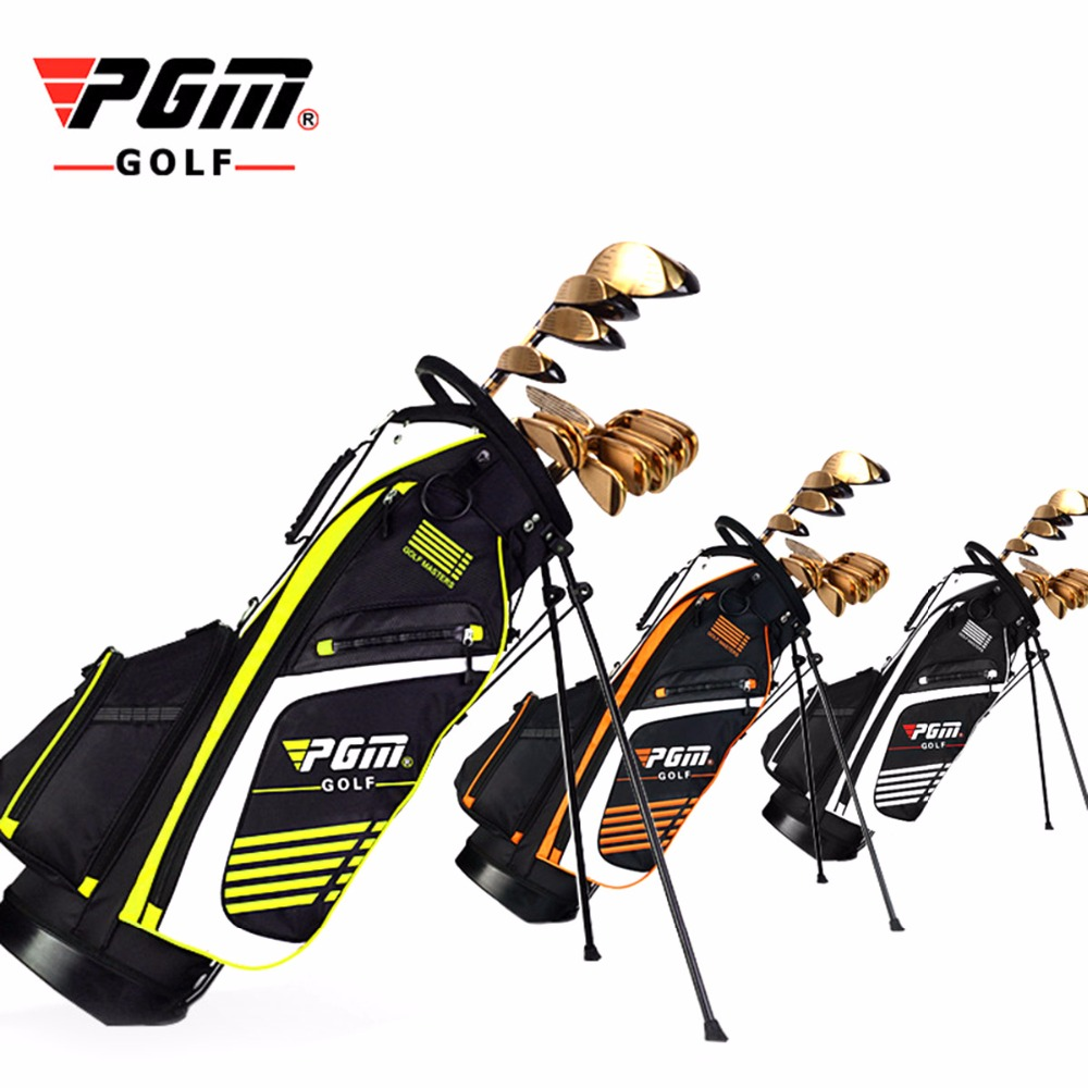 PGM Golf Bag with Stand Portable Stand Bag 14 Sockets Multi Pockets Golf Standard Bag with Shouder Strap 90*28CM 3 Colors mizuno aerolite x golf stand bag white royal