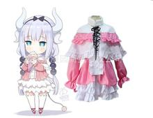 Miss Kobayashi's Dragon Maid Kanna Kamui Cosplay Costume for Women Kobayashi san Chi no Maid Uniforms Lolita Dress for Girl