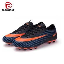 ALDOMOUR Botas de Fútbol Masculino Fútbol Futsal Zapatos de Fútbol Tobillo Calcetín Cleats Outdoor Entrenador Deportivo Profesional