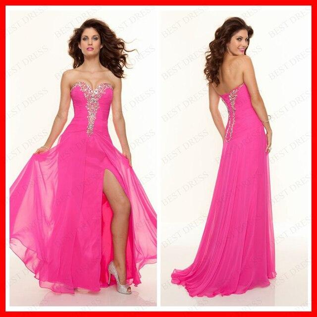 Querida pavimento Length Chiffon Formal vestidos de noite vestidos
