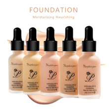 LANGMANNI Base Face Liquid Foundation Cream Full Coverage Co