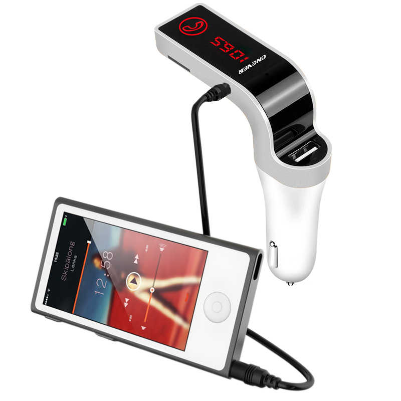 4-in-1 Hands Free Wireless Bluetooth FM Transmitter G7 + AUX Modulator Car Kit MP3 Player SD USB LCD Car Accessories