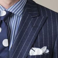 2016 Latest Coat Pant Design Grey Chalk Stripes Mens Jacket Groom S Wear Wedding Suits For
