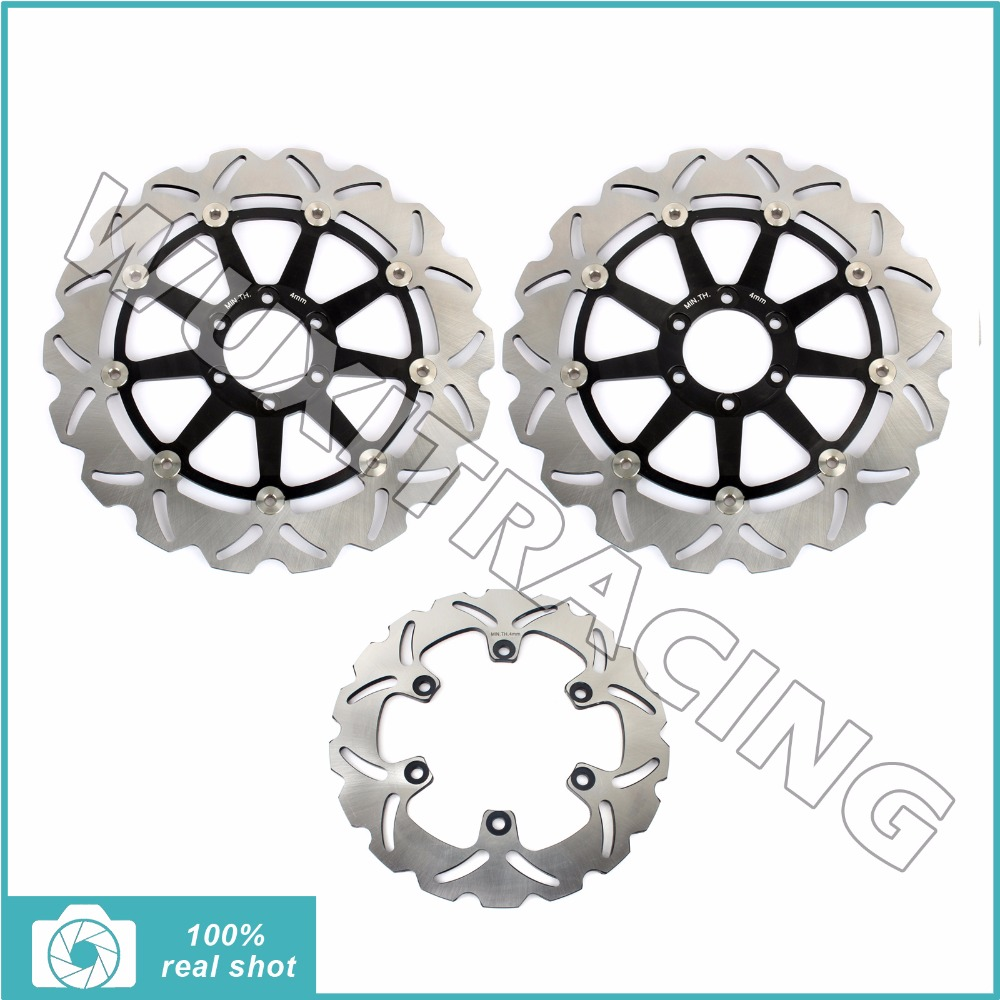 Full Set Front Rear Brake Discs Rotors for DUCATI 400 620 696 750 800 900 1000 1100 MONSTER SS SUPERSPORT ST2 ST3 ST4 GT SL SP rear brake disc rotor for ducati 888 desmoquattro sp panigale 899 898 m monster i e 900 sl superlight sport ss supersport