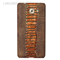 wangcangli brand phone case ostrich foot grain half wrapped phone case For Samsung C9 Pro phone case handmade custom processing