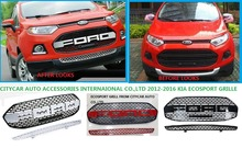 HIGH QUALITY 2012 2013 2014 2015 2016 ECOSPORT F150 STYLE FRONT GRILL RAPTOR BLACK LIT GRILLE GRILL 2PCS