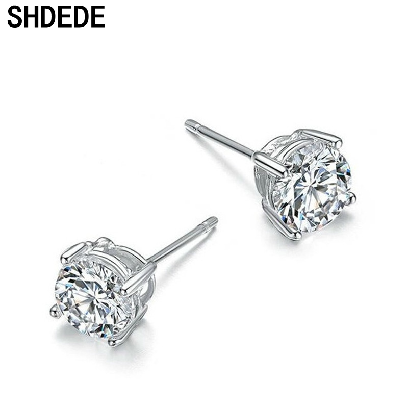 Titanium Stainless Steel Charming Simple Stud Earring with a Gift Box and a Free Small Gift