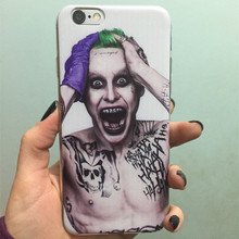 For iPhone 6S Case Suicide Squad Joker Harley Quinn Soft TPU Gel Skin Protective Cover for