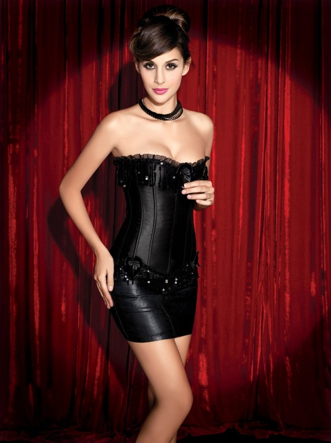 Sexy Corset Halloween Costumes Female Corsets and Bustiers Gothic Clothing Steampunk Overbust Corsage Corselet Plus Size Girdles